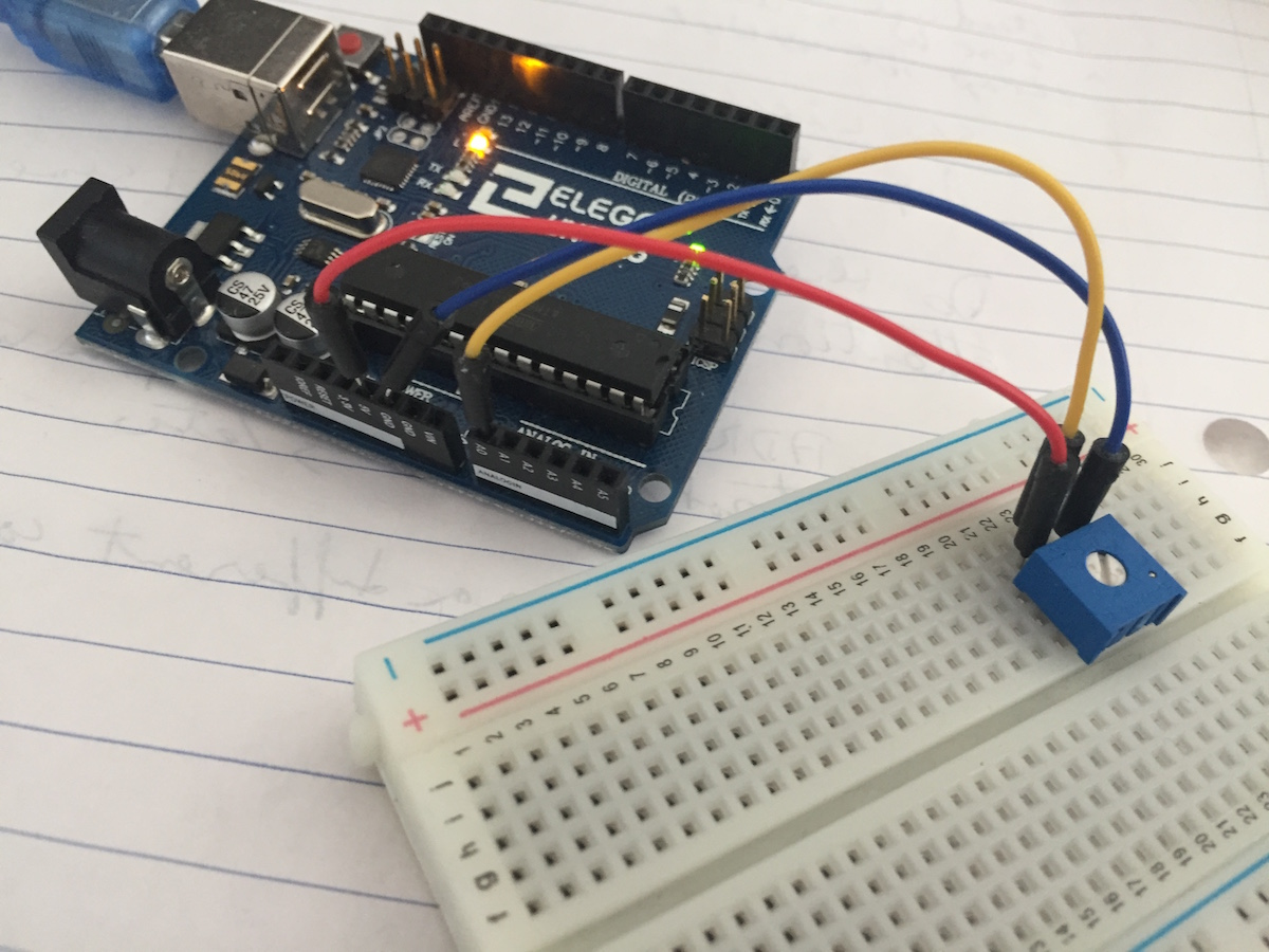 Sd Potentiometer Wiring Using The Arduino Serial Console To Monitor Your Sketch For Simple Analog Circuit Read Value Of A